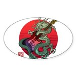 kuuma dragonguitar 3 Sticker (Oval 10 pk)