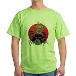 kuuma dragon drum 1 Green T-Shirt