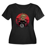 kuuma dragon drum 1 Women's Plus Size Scoop Neck D