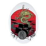 kuuma dragon drum 1 Ornament (Oval)