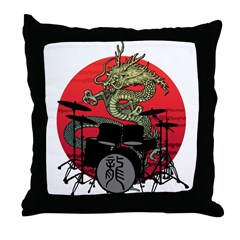 kuuma dragon drum 1 Throw Pillow
