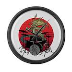 kuuma dragon drum 1 Large Wall Clock