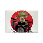 kuuma dragon drum 1 Rectangle Magnet (100 pack)
