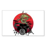 kuuma dragon drum 1 Sticker (Rectangle)