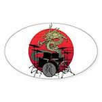 kuuma dragon drum 1 Sticker (Oval 10 pk)