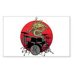 kuuma dragon drum 1 Sticker (Rectangle 10 pk)