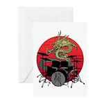 kuuma dragon drum 1 Greeting Cards (Pk of 10)