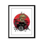 kuuma dragon drum 1 Framed Panel Print