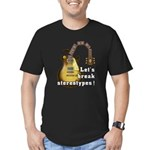 Let's break stereotypes ! Men's Fitted T-Shirt (da