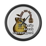 Let's break stereotypes ! Large Wall Clock