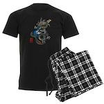 dragon bass Men's Dark Pajamas