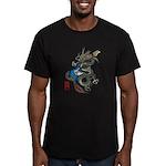 dragon bass Men's Fitted T-Shirt (dark)