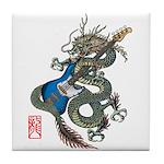 dragon bass Tile Coaster