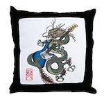 dragon bass Throw Pillow