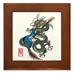dragon bass Framed Tile