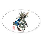 dragon bass Sticker (Oval 50 pk)