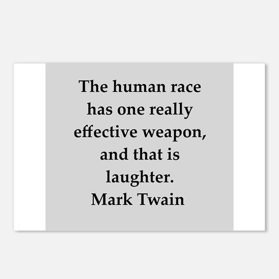 Mark Twain quote Postcards (Package of 8)