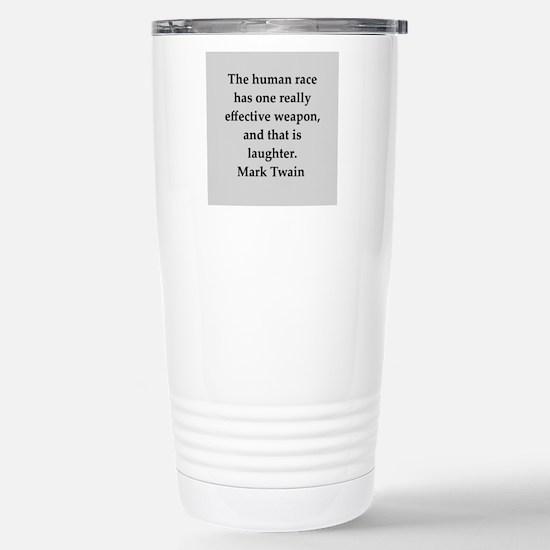 Mark Twain quote Stainless Steel Travel Mug