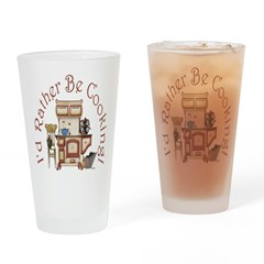 I'd Rather Be Cooking! Drinking Glass