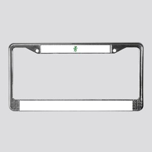 Brave in Pure Kanji Green Edi License Plate Frame