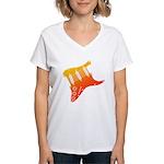 guitar1 Women's V-Neck T-Shirt