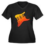 guitar1 Women's Plus Size V-Neck Dark T-Shirt