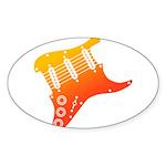 guitar1 Sticker (Oval 50 pk)