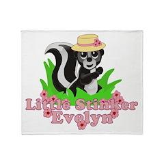Little Stinker Evelyn Throw Blanket