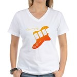 guitar2 Women's V-Neck T-Shirt