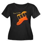 guitar2 Women's Plus Size Scoop Neck Dark T-Shirt