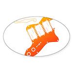 guitar2 Sticker (Oval 50 pk)