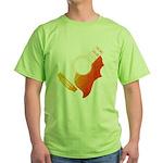 guitar 3 Green T-Shirt