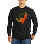 guitar 3 Long Sleeve Dark T-Shirt