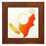 guitar 3 Framed Tile
