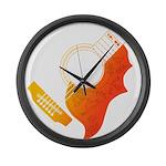 guitar 3 Large Wall Clock