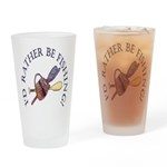I'd Rather Be Fishing! Drinking Glass