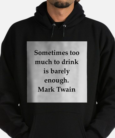 Mark Twain quote Hoodie (dark)