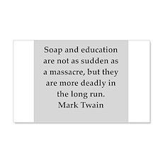 Mark Twain quote 22x14 Wall Peel