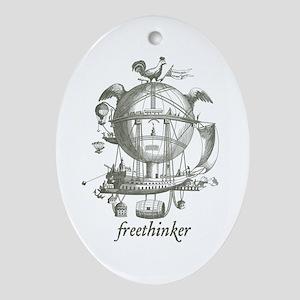 Freethinker Ornament (Oval)
