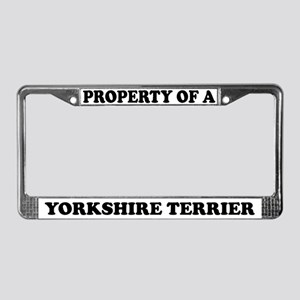 Property Of Yorkshire Terrier License Plate Frame
