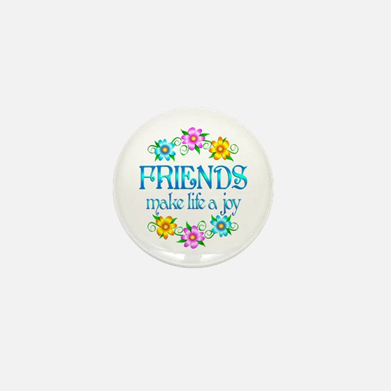 Friendship Joy Mini Button
