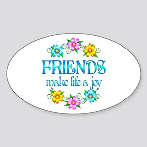 Friendship Joy Sticker (Oval)