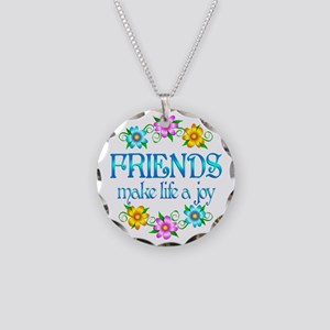 Friendship Joy Necklace Circle Charm