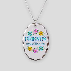Friendship Joy Necklace Oval Charm