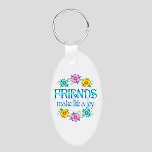 Friendship Joy Aluminum Oval Keychain