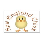 New England Chick Car Magnet 20 x 12