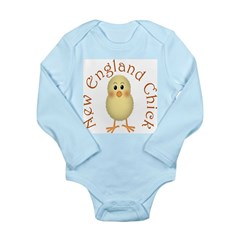 New England Chick Long Sleeve Infant Bodysuit