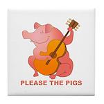 Please The Pigs Tile Coaster