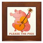 Please The Pigs Framed Tile