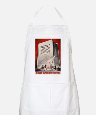 """""""Books cannot be killed by fi BBQ Apron"""